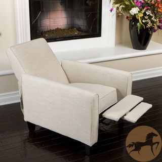 Christopher Knight Home Darvis Light Beige Fabric Recliner Club Chair