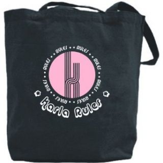 Canvas Tote Bag Black  Karla Rules  Name Clothing