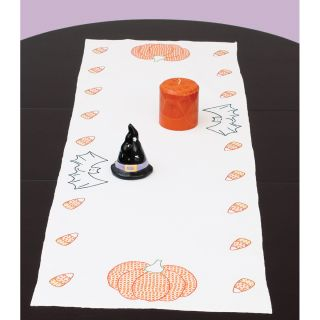 Stamped Table Runner/Scarf 15X42 Halloween Today $8.59