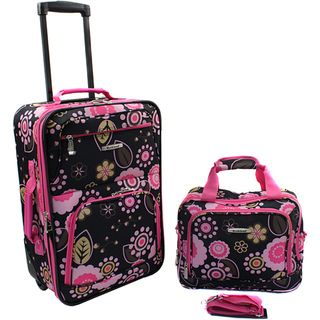 Rockland Pucci Lightweight 2 Piece Carry On Luggage Set