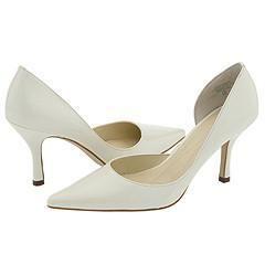 AK Anne Klein Christa Ivory Patent Pumps/Heels