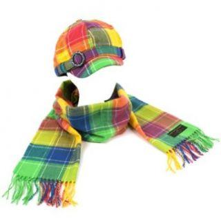 Ladies Winter Plaid Adjustable Newsboy Cap Hat Softer