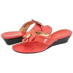 AK Anne Klein Mackenzie Coral Patent Sandals