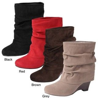 Glaze by Adi Womens Faux Suede Wedge Boots