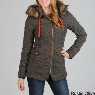 Buffalo Womens Detachable Faux Fur Hood Coat