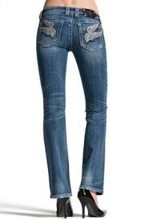 Womens Miss Me Jeans Boot Cut Designer Jeans Double Angel