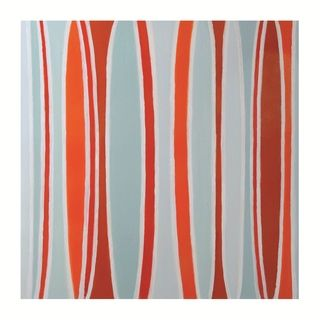 Sunpan Orange And Teal Curves Original Canvas Art