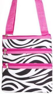 Zebra Hot Pink Passport Shoulder Bag Purse Clothing