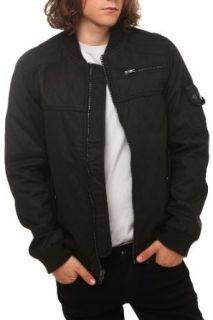 RUDE Quilted Coated Black Bomber Jacket Clothing