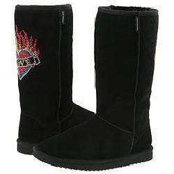 Steve Madden Powered Embellished Black W/ Love Boots