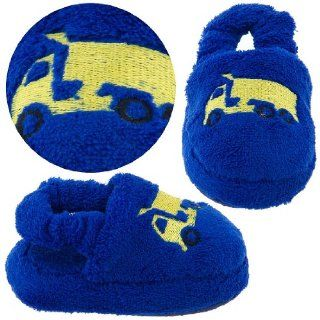 Royal Blue Dump Truck Toddler Slippers for Boys Shoes