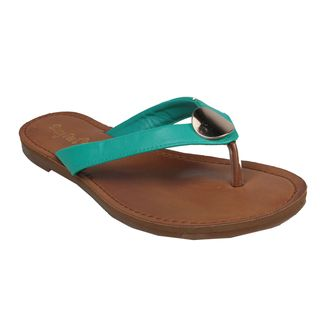 Sunny Feet By Beston Womens Kendal 01 Seafoam Thong Sandals