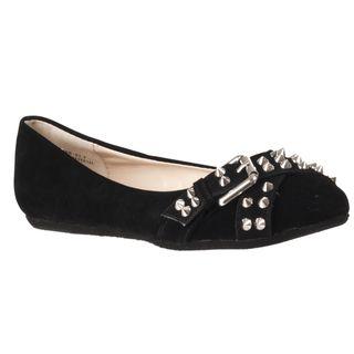 Riverberry Womens Jayden Black Studded Flats