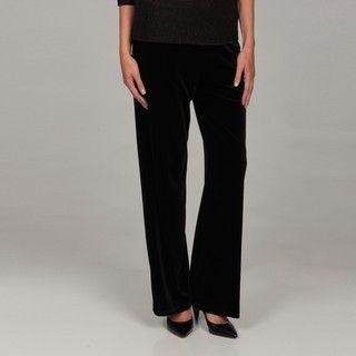 Kasper Womens Black Velvet Stretch Pants FINAL SALE