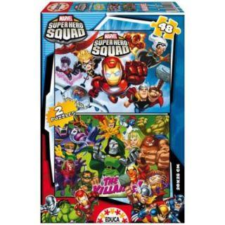 48 pcs   Marvel Super Hero Squad   Achat / Vente PUZZLE Puzzle 2 x 48