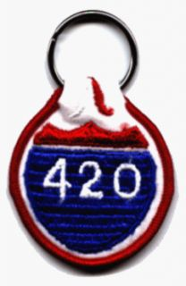 4:20 Embroidered Fabric Keychain (Pot, Weed, Marijuana