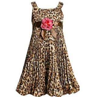 Bonnie Jean Girl Leopard Sleeveless Bubble Dress 12
