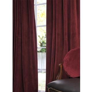 Signature Burgundy Velvet 108 inch Blackout Curtain Panel