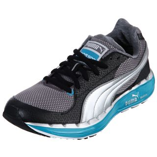Puma Womens Black/ Blue Lace up Sneakers