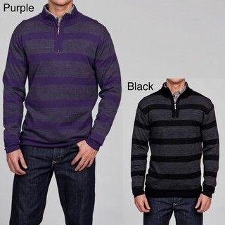 Poeta Moda Mens Merino Wool Striped Sweater FINAL SALE