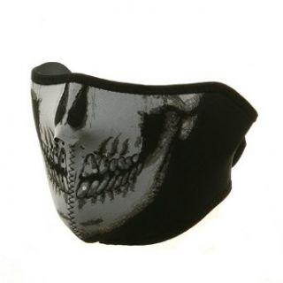 Neoprene Half Face Mask Skull W11S25D Clothing