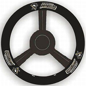 Pittsburh Penguins Leather Steering Wheel Cover Sports