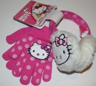 Hello Kitty Girls Earmuff Set   Earmuffs & Gloves Size