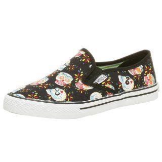 Skechers Cali Womens Kanz Slip on Sneaker,Black,5 M Shoes