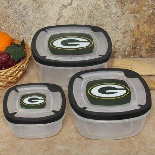 Green Bay Packers Plastic Food Storage Container 3pc Set