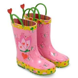 Melissa & Doug Girls Bella Butterfly Rain Boots