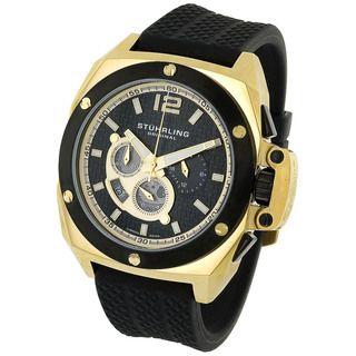 Stuhrling Original Mens Expedition Quartz Gold Watch