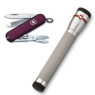 Classic Swiss Army Knife with LED Flashlight