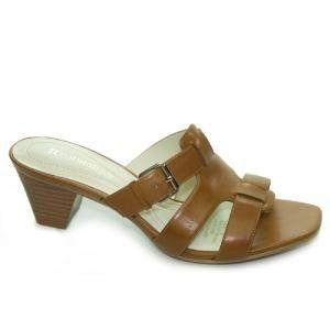Naturalizer Silence Leather Slide Sandal (6N Saddle) Shoes