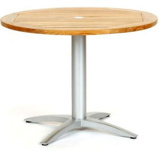 Infinity Teak/ Aluminum 40 inch Round Dining Table
