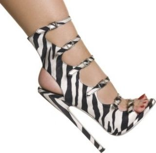 Outrageous Hollywood Heels Zebra Satin Size: 13 sexy shoes: Shoes