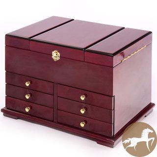 Christopher Knight Home Large Cherry Wood Jewelry Box