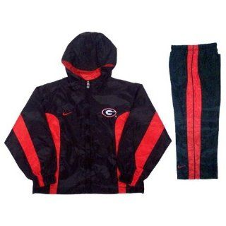 Nike Georgia Bulldogs Black Youth 2 Piece Wind suit