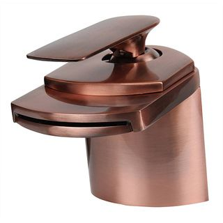 Dyconn 4.5 inch Antique Copper Waterfall Bathroom Faucet