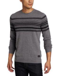 Ben Sherman Mens Intarsia Placement Crew Neck Sweater