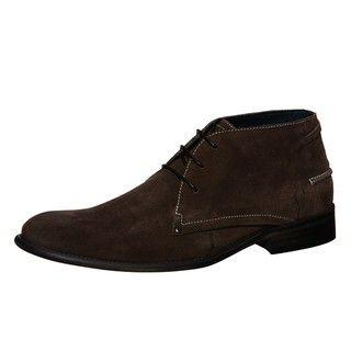 Steve Madden Mens Brentt Taupe Suede Chukka Boots