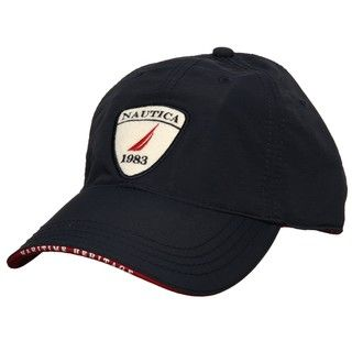Nautica Mens Navy 1983 Patch Hat