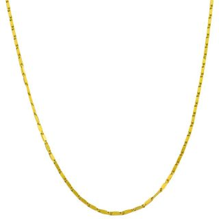 Fremada 14k Yellow Gold 18 inch Square Bar Link Necklace (0.8 mm