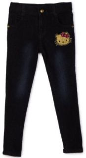 Hello Kitty Girls 2 6X Skinny Jean with Patch Pocket, Dark