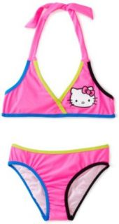 Hello Kitty Girls 7 16 Animal Halter Bikini Set Clothing