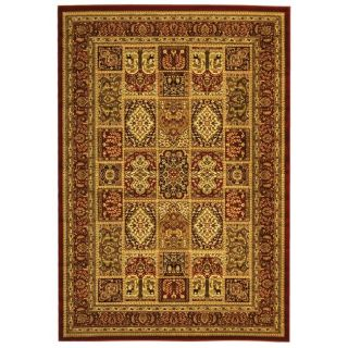 Lyndhurst Collection Isfan Red/ Multi Rug (4 x 6)