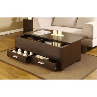 Knox Dark Espresso Storage Box Coffee Table