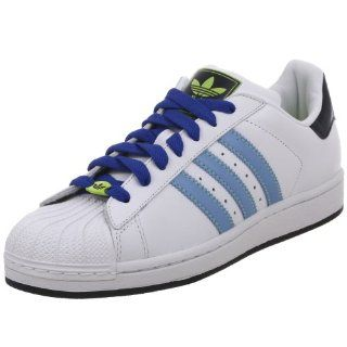 com adidas Originals Superstar Ii Shoe,White/Blue/Navy,4 M US Shoes