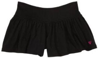 Roxy Girls 7 16 C Money Novelty Knit Split Skirt,Black,S