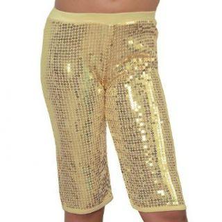 Lipstik Little Girls Cute Gold Sequin Knee Leggings 14
