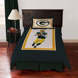 Green Bay Packers Aaron Rodgers 4 piece Comforter Set